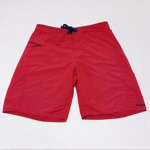 Patagonia Men's Red Boardshorts Size 34 - GUC